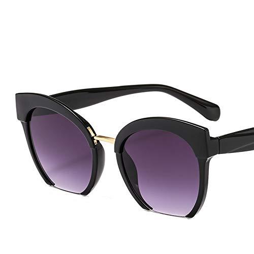 Trendy farbige Half Frame Cat Eye Sonnenbrille Frauen Marke Brillen Street Beat Shopping UV400