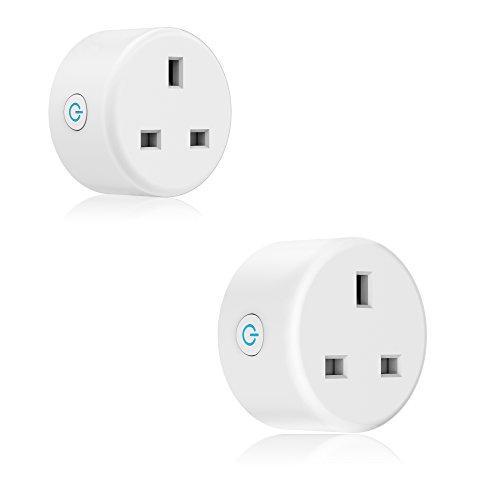 WLAN Smart Plug, Mini Ausgänge Smart-Buchse kein Hub erforderlich Timing Funktion Kontrolle der Elektrischen Geräte überall Kompatibel mit Alexa und Google Assistant