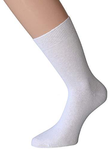 kbsocken 10 Paar Diabetikersocken Herrensocken und Damensocken ohne Gummi in verschiedenen Ausführungen und Farben Damen Herren Socken Strümpfe Gesundheitssocken (39-42, 10 Paar Damen Weiß) -