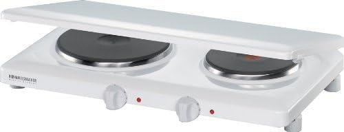 ROMMELSBACHER THL 3097/A - DOPPELKOCHTAFEL - 3000 Watt - weiß - mit Abdeckung