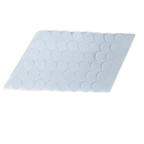 ecloud-shop-50-paire-pastilles-autocollantes-adhesives-blanc