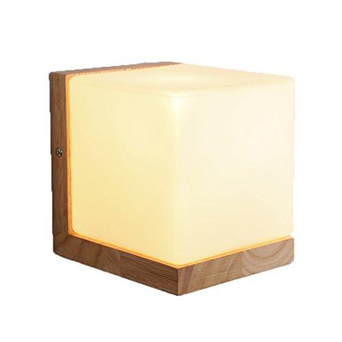 GKJ Lampadaire en bois en bois, lit créatif Lustre à cabine Salon Balcon Couloir couloir Lampes murales Mariage Salle Décoration Lampes et lanternes Simple tête E27, 14 * 12cm (taille : 14 * 12CM)