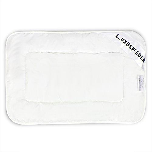 Luxusfeder - Atmungsaktives und allergikergeeignetes Kopfkissen - Kinderkopfkissen flach 40x60 cm - Öko-Tex zertifiziert