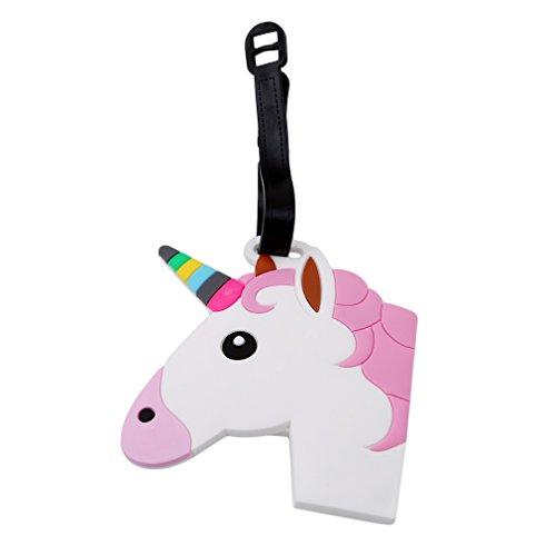 HENGSONG Unicorn Accessoires de Voyage Étiquette de Bagages Animaux de Bande Dessinée Suitcase Id Support Adresse Baggage Boarding Tag Portable Label