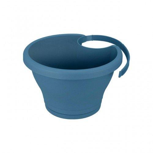 Elho Corsica pluie Tube Pot de fleurs Ø 24 cm Couleur au choix [Vintage Blue]