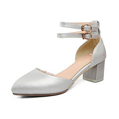 LvYuan Da donna-Sandali-Matrimonio Formale Serata e festa-D'Orsay-Quadrato-Finta pelle-Rosa Argento Beige Silver