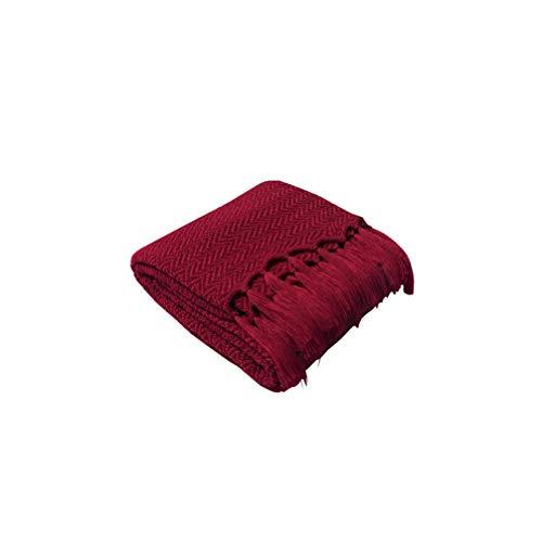 HYwot Caldera Acryl Decke Stricken Sofa Decke Weiche Geladene Fotografie Requisiten,a4 -