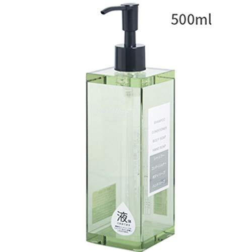 S.W.H Dispensador De Jabón Baño Dispensador De Enjuague Bucal Resina Premium Líquido Y Dispensador De Jabón For La Cocina Y El Baño 500 Ml Verde