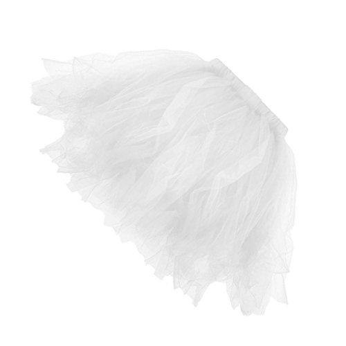 Sharplace tutu damen tutu mädchen Ballettröckchen Röcke Prinzessin - Weiß, Erwachsene (Niedliche Halloween Outfits Frauen)