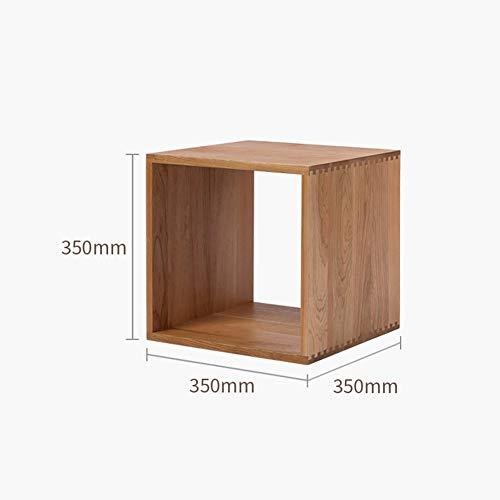 ssok shelf Holz Würfel speichersystem, Freie Kombination Schrank Frame Entfernbar Fixiert, Modulare Offenen Bücher Regal Stand Schrank Organizer-Kirsche 35x35x35cm(14x14x14inch) -