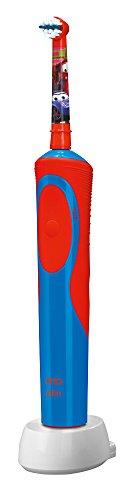 Oral-B Stages Power - Cepillo de dientes infantil eléctrico de rotación, color azul y rojo