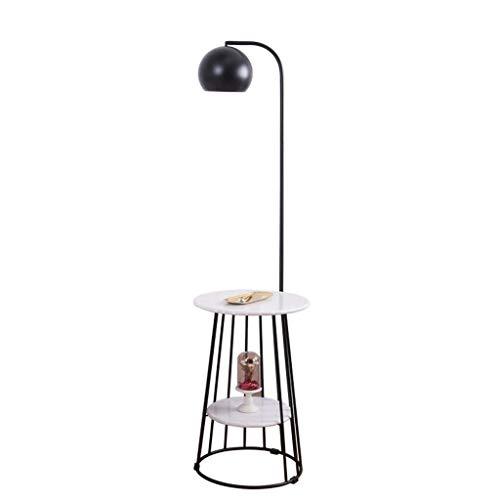 LXJ Standard Stehleuchte Stehlampe Marmor Beistelltisch einfache Wohnzimmer Schlafzimmer Sofa kleine runde Tischecke mehrere kreative Lichter -