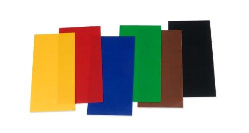 Wachsplatten / Verzierwachs Sortiment 'Grundfarben' (6 Bögen / 175 x 80 x 0,5 mm) TOP QUALITÄT