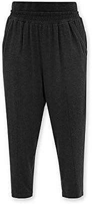 KAC-LAB Damen weit grau Tapered Jogginghose Yoga Loungewear Hose mit elastischem hoher Bund und Taschen leicht