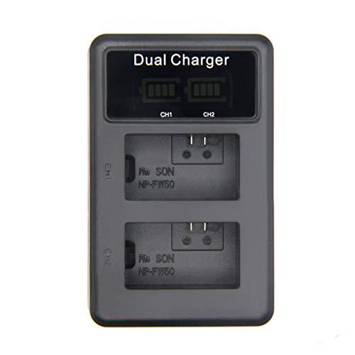 Preisvergleich Produktbild Minzhi USB Dual Rapid-LCD-Schirm-Kamera-Akku-Ladegerät Ersatz für NP-FW50 Batterien A5000 A6000