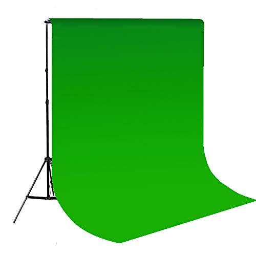 Epower Studio 6 x 9FT / 1,8 x 2,8 M Fotostudio 100% reines Muslin Faltbare Hintergrund-Hintergrund für Fotografie, Video und Fernsehen Chroma Green Screen