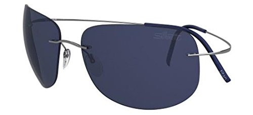 Silhouette - tma ultra thin 8676, geometrico, titanio, uomo, silver/blue(6232 a)