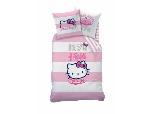 Cti 040722 Ropa de Cama Hello Kitty Brittany, Linón de Algodón, 135...
