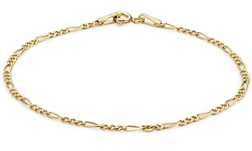 Carissima Gold Damen - Fußkettchen 375 Gold Rundschliff Diamant 1.25.0095