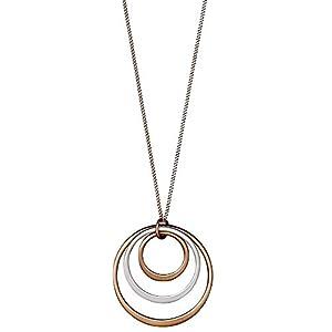 621734011 Iona Kette lang Ringe Silber Rosegold Pilgrim