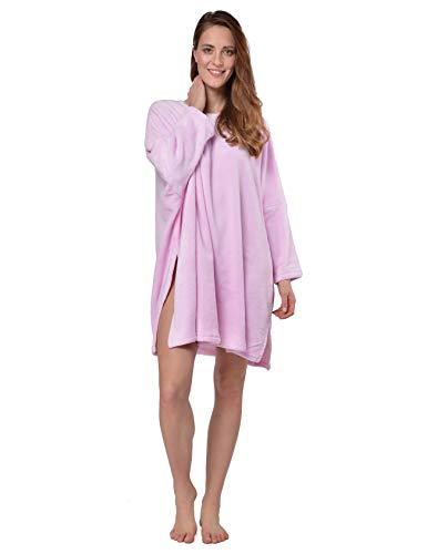 RAIKOU Coucher/Poncho/Nachthemd One Size (Eine Größe für alle) (Rosa)