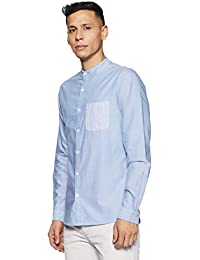 United Colors of Benetton Men's Striped Regular Fit Casual Shirt