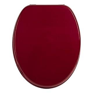 WC-Sitz Venezia rot | Toilettensitz | WC-Brille aus Holz | Mit Active-Clean-Beschichtung | Klodeckel mit Metall-Scharnier | Toilettendeckel