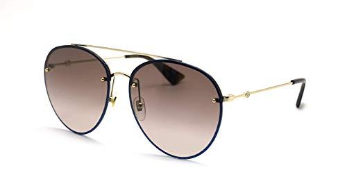 Gucci Damen Sonnenbrille Blau blau L