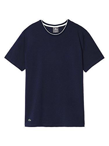 Lacoste Underwear Herren Schlafanzugoberteil Lacoste C/N Stretch Sleep Tee Blau (dunkelblau 803)