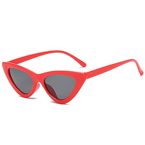 Aienid Vintage Sonnenbrille Resin Dreieck Cat Eye Sonnenbrillen Rot Schwarz Sonnenbrille Für Frauen