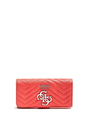 Guess Violet SLG File Clutch Coral