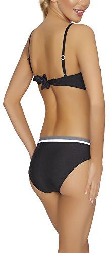 Verano Bikini Coordinati per Donna Sheila Bianco/Grigiore/Nero