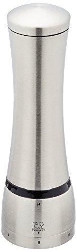 Peugeot 25533 Mahe Pfeffermühle Edelstahl, 6,5 x 6,5 x 21 cm, silber