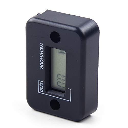 WINOMO Digital tachym/ètre Tach Hour Jauge de m/ètre /écran LCD Racing Moto