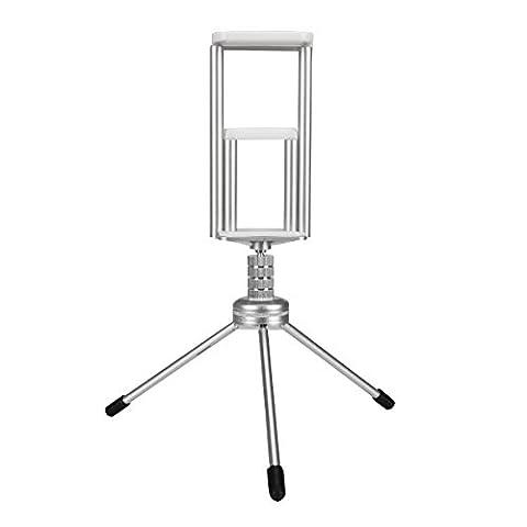 EsportsMJJ 360 Pivotant Mini Stand Trépied Mont Téléphone Titulaire Pour Tablette iPhone Ipad Samsung Pour Téléphones Mobiles Htc - Silver
