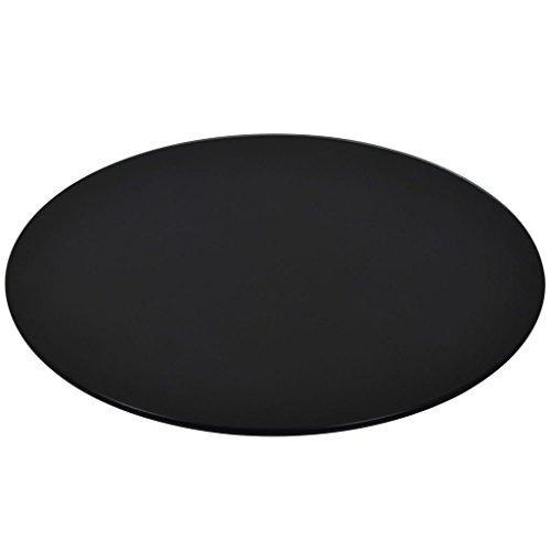 vidaXL Dessus de Table de Salle à Manger Table Basse Rond Verre Trempé 300 mm