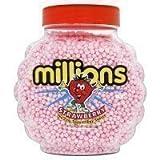 Glas mit Millionen Erdbeer Bonbons 2.27kg