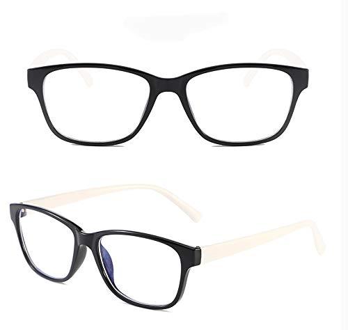FYMILAN QDT Brille für PC,Tablet,TV Anti-Glanz- und Anti-Schmerzen der Augen Nero&bianco (Augenrötung)