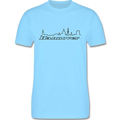 Skyline - Hannover Skyline - Herren Premium T-Shirt Hellblau