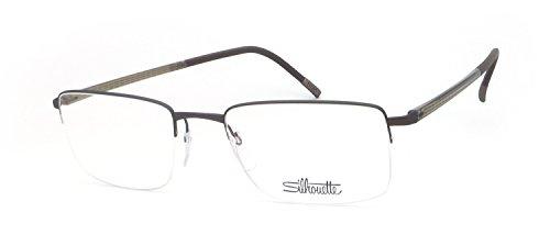 Preisvergleich Produktbild Silhouette - ILLUSION NYLOR 5457,  Rechteckig,  Titan,  Herrenbrillen,  DARK BROWN(6057 C),  53 / 19 / 0
