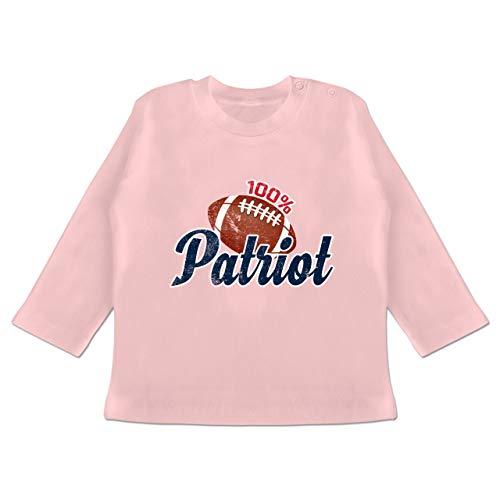 Baby - 100{a9df7803ec4923dbf53f39be1762b79cd402a16cf44f6f99cee8ed9584d73b1f} Patriot - 12-18 Monate - Babyrosa - BZ11 - Baby T-Shirt Langarm