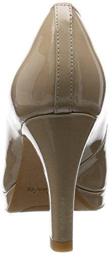 Clarks Crisp Kendra Damen Plateau Pumps Beige (Sand Patent)