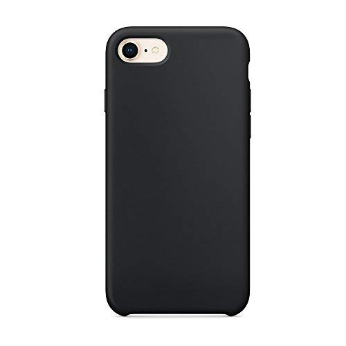 Cover iphone 8, cover iphone 7, surphy ultra sottile e anti-graffio antiscivolo silicone custodia cover per iphone 8, iphone 7 (4.7 pollici) (nero)