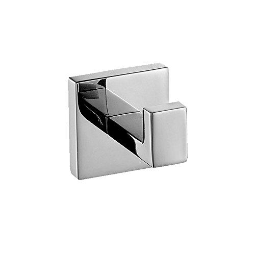 Homovater 304 Edelstahl verchromt Handtuchhaken, Modern Chrom Handtuch Robe Luxus Quadrat Badezimmer Zubehör