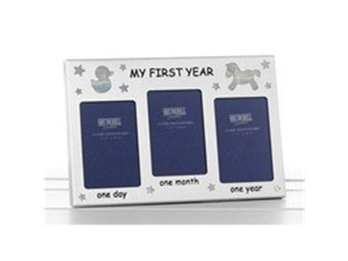 """Bilderrahmen mit englischem Schriftzug """"My First Year"""" (Mein erstes Lebensjahr)"""