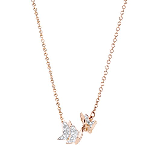 Swarovski Women's Rose-Gold Tone Plated, Small, White Crystal, Lilia Necklace 5382366 Img 1 Zoom