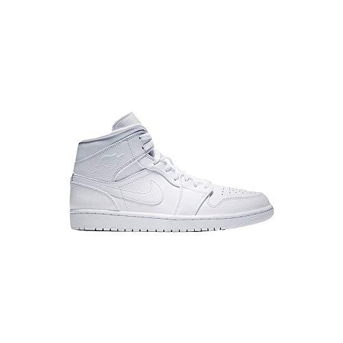 Nike Herren AIR Jordan 1 MID Basketballschuhe, Weiß White 129, 42 EU