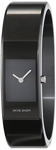 Jacob Jensen Womens Analogue Quartz Watch with Stainless Steel Strap Eclipse Item NO. 463