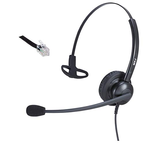 MKJ RJ9 Wired Phone Headset Desk Telephone Headset with Noise Cancelling  Microphone Plantronics Compatible for Avaya 617e1f930f
