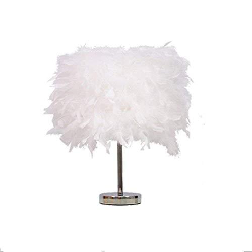 Crystal 25 Licht (WLM Nordic Personality Tischleuchte, stilvolle Lampen minimalistischen Lampen Antik dekorative Lichter Crystal Feather-Light LED, 25Cm-White)
